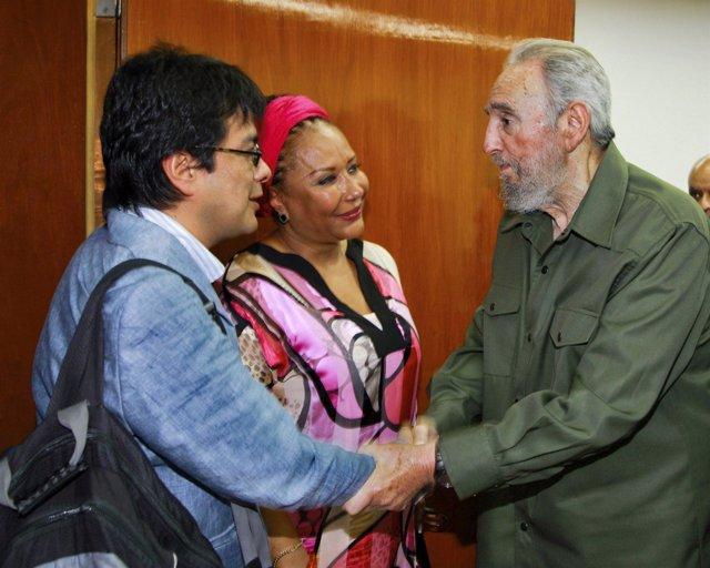 Piedad Córdoba y Fidel Castro conversan en La Habana