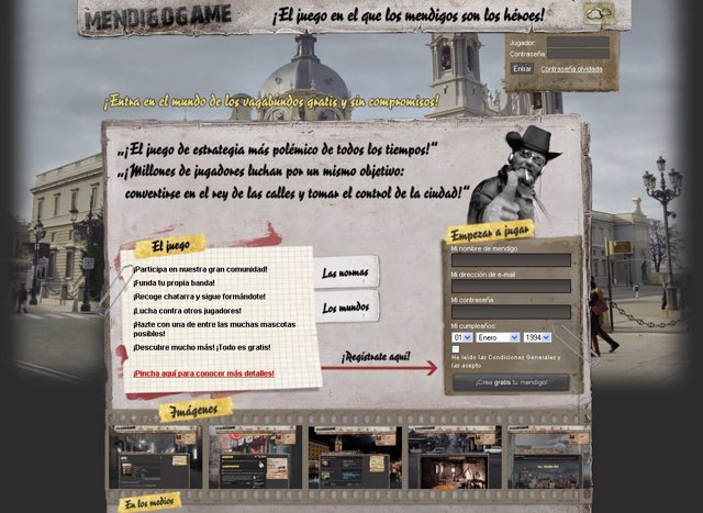 Imagen del videojuego 'Mendigogame'.