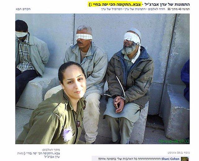 Eden Abergil, ex soldado israelí cuelga fotos en facebook