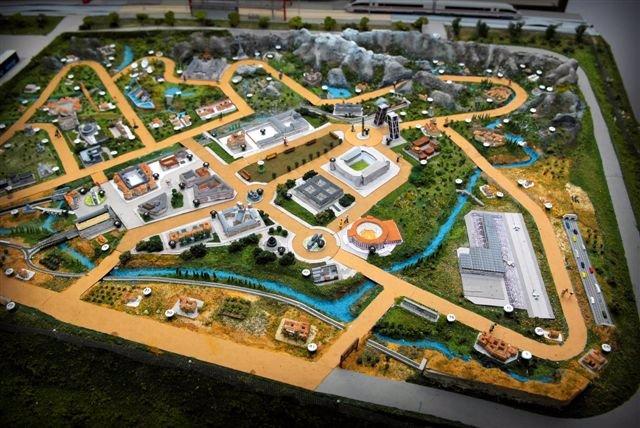 Maqueta del 'Minimadrid' que se construirá en Boadilla