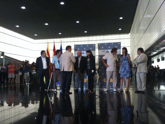Albert Vilalta i Roque Pascual arriben a Barcelona