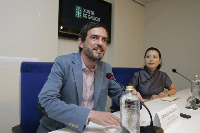 O director xerente da S.A. de Xestión do Plan Xacobeo, Ignacio Santos, presenta