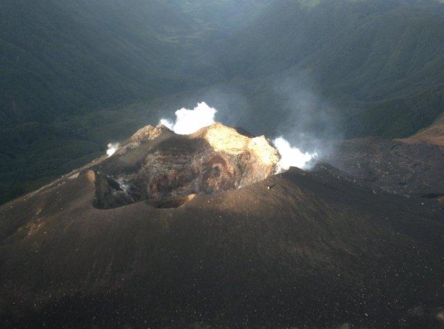 Imagen del volcán Galeras, en Colombia