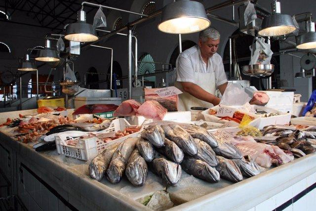 Mercado de pescados en Andalucía