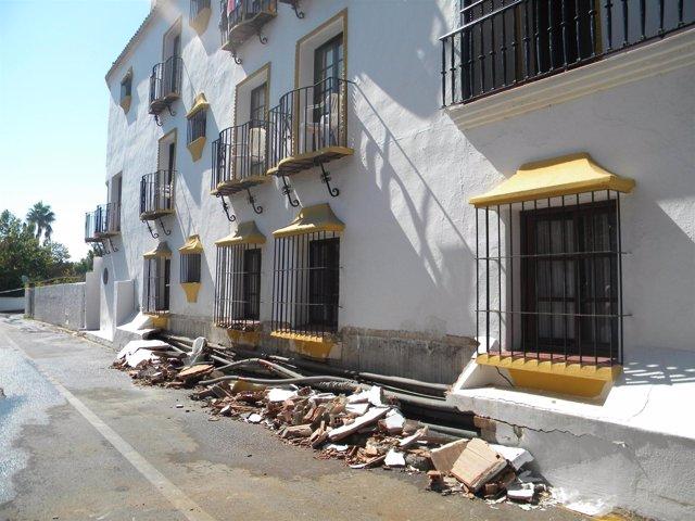 Estado en el que quedó el hotel tras la explosión de la caldera