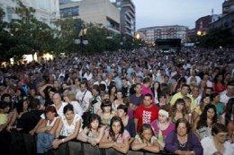 Asistentes al concierto de Marta Sánchez