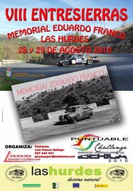 Cartel del encuentro de vehículos clásicos en Las Hurdes
