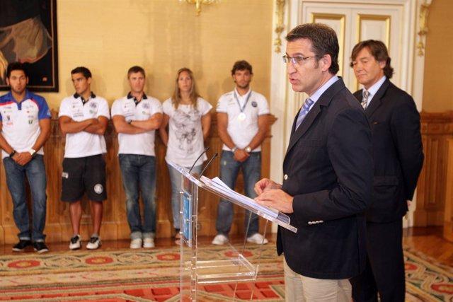 O presidente da Xunta, Alberto Núñez Feijóo, recibirá aos deportistas galegos qu