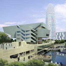 Recreación del futuro edificio del Dhub