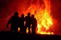 Imagen de un incendio en Navarra.
