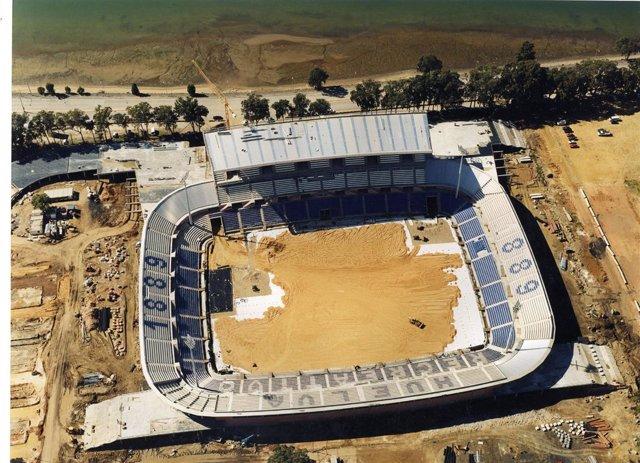 Imagen de una de las fotografías aéreas del Archivo Histórico provincial de Huel