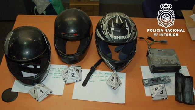 Objetos incautados por la Policía
