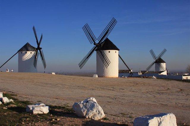 Instantánea de unos molinos de viento