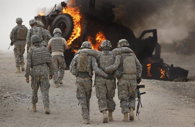 Soldados estadounidenses heridos en Afganistán