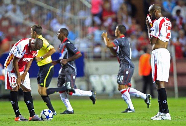 El Sevilla, eliminado de la Champions