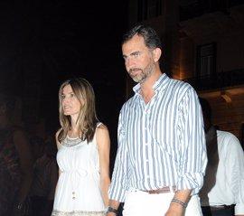 La Familia Real española, sin el Rey, unida en la recepción de Nicolás de Grecia