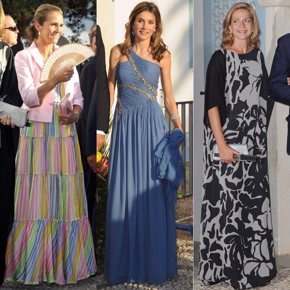 Las infantas Elena y Cristina y la Princesa Letizia en la boda de Nicolás de Gre