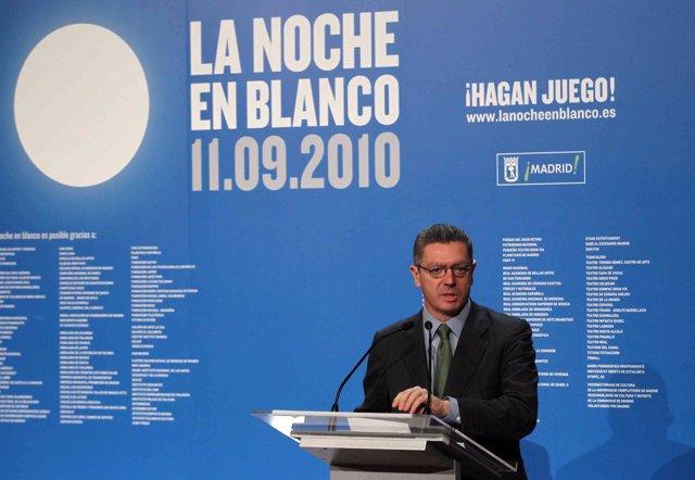 Gallardón presenta La Noche en Blanco