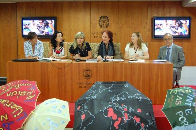 Presentación del proyecto 'Paraguas por la Paz'