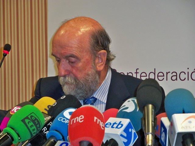 El secretario general de Confebask, José Guillermo Zubia.