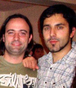 Juan Rodríguez-Briso (d) y Nicolás Yacumo, los creadores de la película.