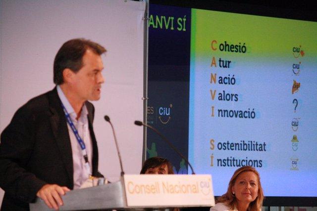 El líder de CiU, Artur Mas