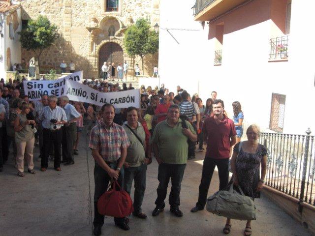 Quinto relevo del encierro por el carbón en Ariño (Teruel)