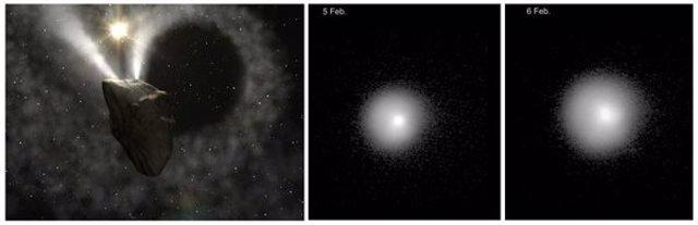 Cometa ubicado entre Júpiter y Saturno