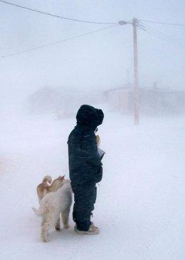 tormenta en el Ártico