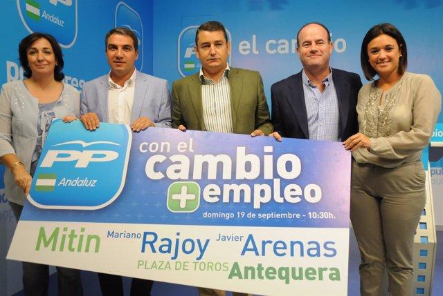 Presentación del mitin de Rajoy en Antequera (Málaga)