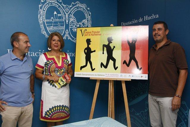 El diputado de Deportes, Jesús Fernández Ferrera presenta  la V Legua Popular y