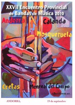 Cartel anunciador del Encuentro de Bandas de Música en Andorra (Teruel)