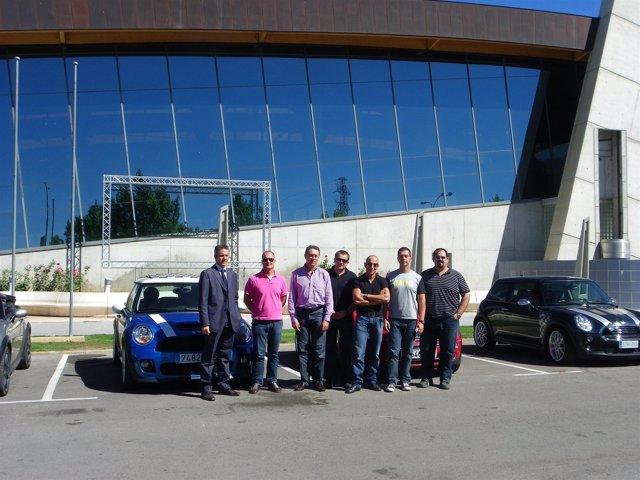 Miembros del Club Masmini, en una visita de inspección a Teruel este mes de sept