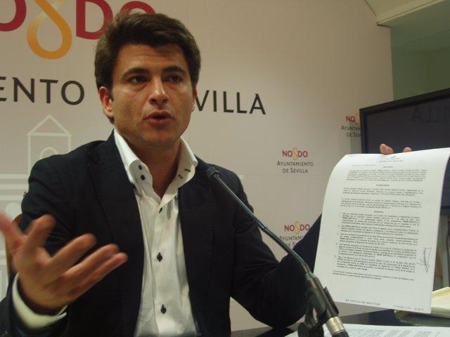 El Concel Del PP Beltrán Pérez En Una De Sus Intervenciones Sobre Mercasevilla.