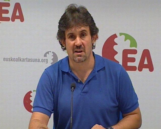 Declaraciones de Peio Urizar (EA) tras la prohibición de la manifestación MinOro