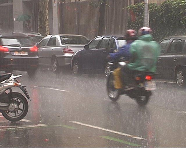 Intensas lluvias en Barcelona