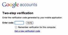 Doble verificación para Google App