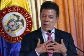 """Santos quiere obtener """"logros sociales"""" para Colombia"""