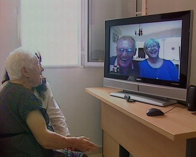 Videoconferencias para mayores en pisos tutelados