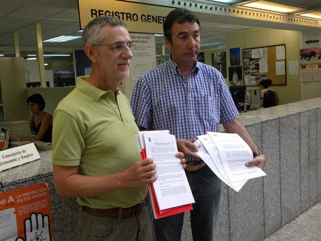 Agustín Prieto (UGT) y Ángel Hernández (CC.OO)