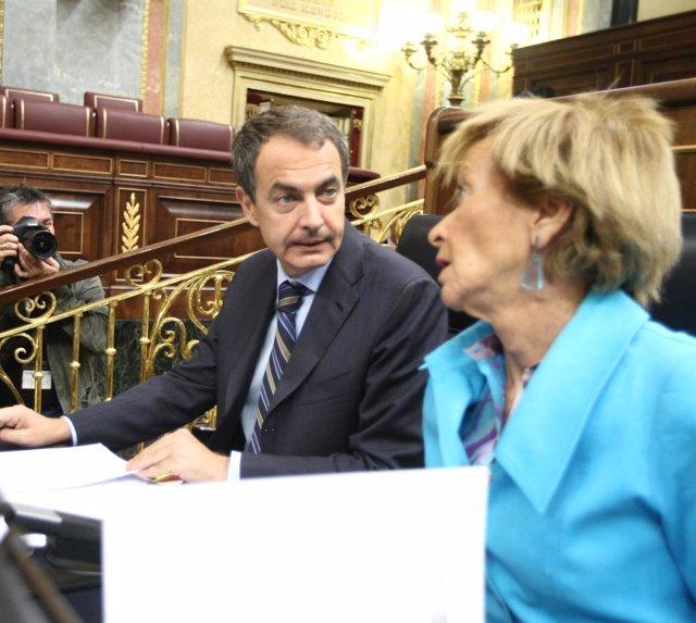 presidente del Gobierno, José Luis Rodríguez Zapatero y la vicepresidenta primer