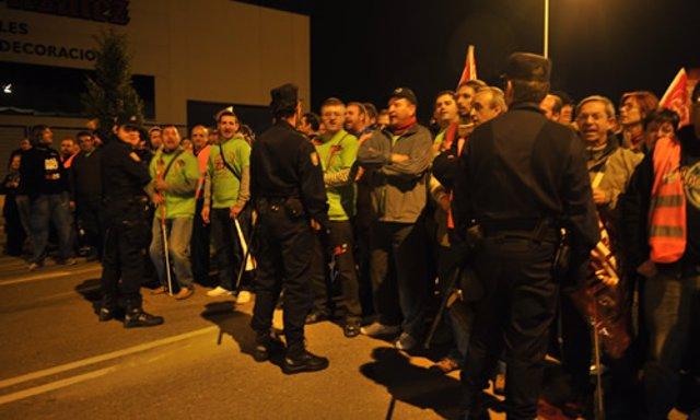 Un piquete en Valladolid