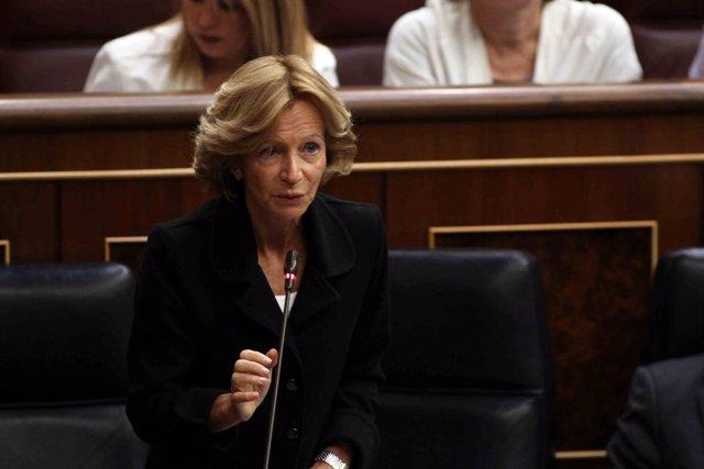 Imagen de Elena Salgado en el Congreso