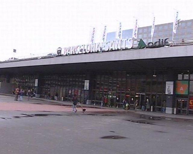 Estación de cercanías en Barcelona, Sants