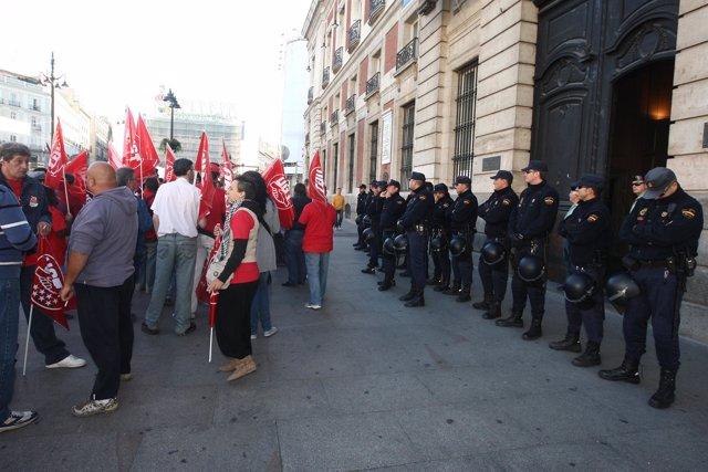 Cortes de la Gran Vía en Madrid