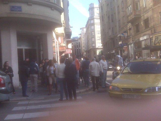 Huelga centro Santander