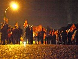 Imagen de piquetes durante la huelga