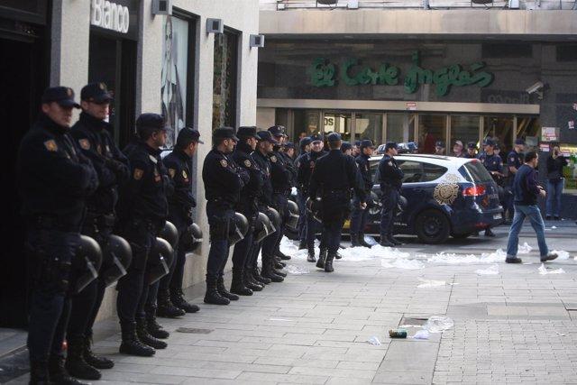Huelga general en el centro de Madrid