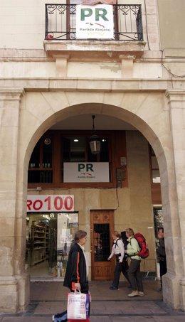 Sede del PR en Logroño