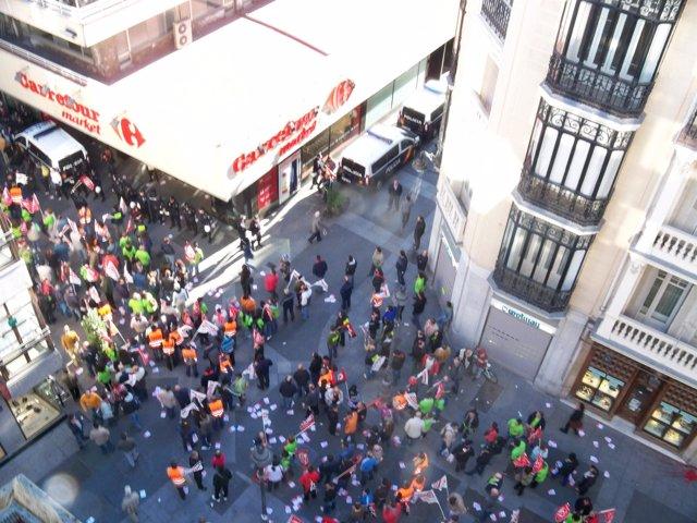 Piquete en calle comercial de Valladolid